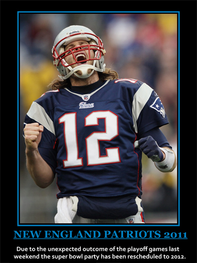 Non motivational poster New England Patriots